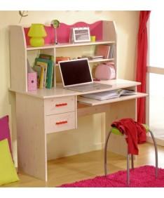 PARISOT 2257-BUR1 Schreibtisch Lilou in kiefer-weiss