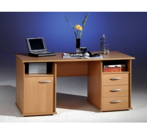 BEGA 39-170-27 Schreibtisch Penta in Buche-Nachbildung